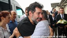 NEW YORK, USA - JULY 24: A former Turkish banking executive Mehmet Hakan Atilla (2nd L), who was released from a federal U.S. prison last week, is welcomed by his relatives after arriving at Istanbul Airport in Istanbul, Turkey on July 24, 2019. Muhammed Enes Yildirim / Anadolu Agency   Keine Weitergabe an Wiederverkäufer.