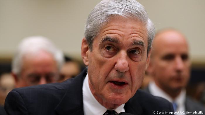 Бывший спецпрокурор по России Роберт Мюллер во время дачи показаний в Конгрессе 24 июля 2019 года