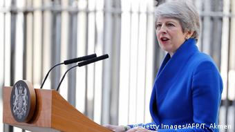 Großbritannien London | Theresa May hält letzte Rede als Premierminsterin in Downing Street (Getty Images/AFP/T. Akmen)