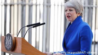 Großbritannien London | Theresa May hält letzte Rede als Premierminsterin in Downing Street