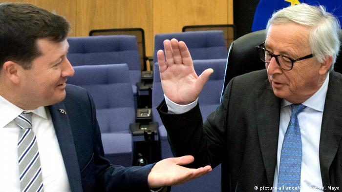 Generalsekretär der EU-Kommission Martin Selmayr und EU-Kommission Jean-Claude Juncker