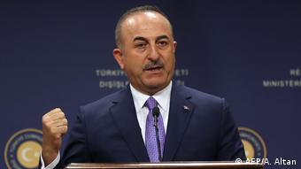 Türkei PK Außenminister Mevlut Cavusoglu