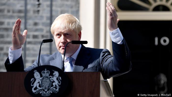 UK Boris Johnson in Downing Street