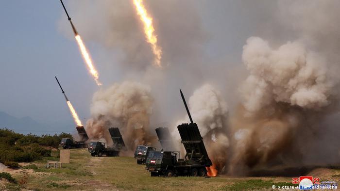 Kuzey Kore haber ajansı KCNA'nın yayınladığı Kuzey Kore'nin silah sistemlerini gösteren bir fotoğraf
