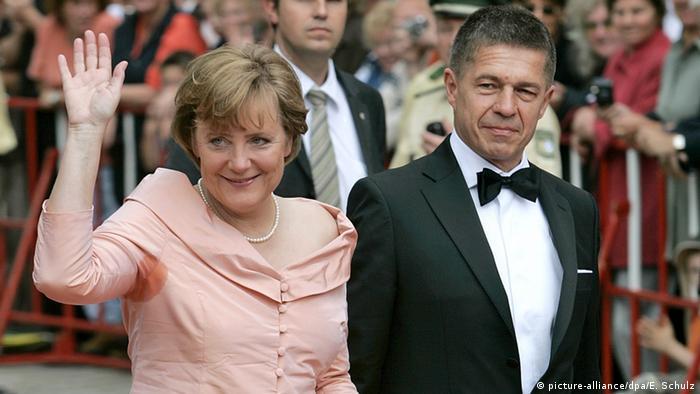 Angela Merkel mit Ehemann Joachim Sauer in Bayreuth.