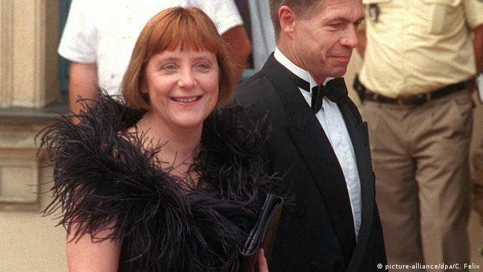 Ангела Меркель с супругом на открытии Байройтского фестиваля 2001 года