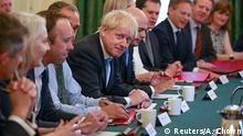25.07.2019++++++++ British PM Johnson holds his first cabinet meeting at Downing Street, London, Britain July 25, 2019. Aaron Chown/Pool via REUTERS