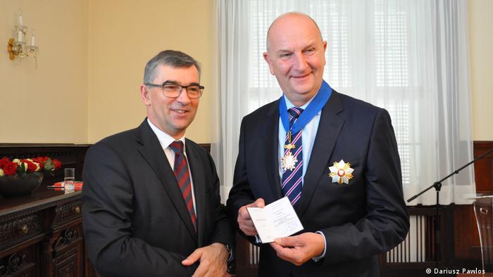 Dietmar Woidke odbiera Krzyż Komandorski Orderu Zasługi RP