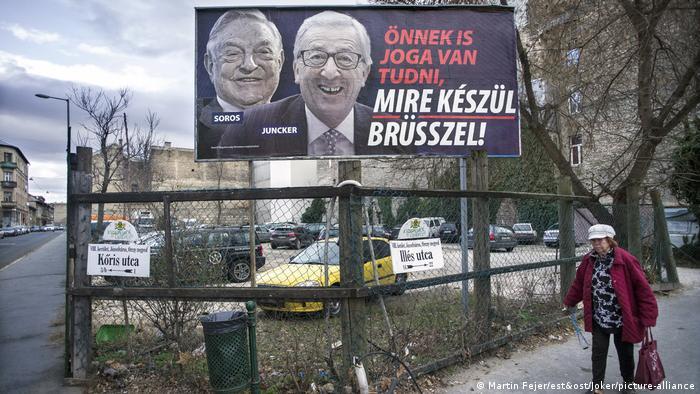 Plakati stranke Fidesz protiv Soroša i EU-a (veljača 2019. u Budimpešti)