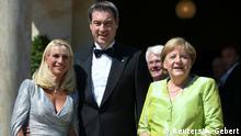 Richard-Wagner-Festspiele in Bayreuth - Angela Merkel und Markus Söder