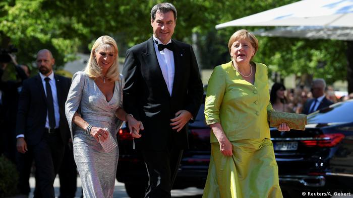 Angela Merkel und Markus Söder bei den Richard-Wagner-Festspielen in Bayreuth (Reuters/A. Gebert)