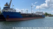 Ukraine setzt russischen Tanker Nika Spirit aka Neyma in Hafen im Schwarzen Meer fest