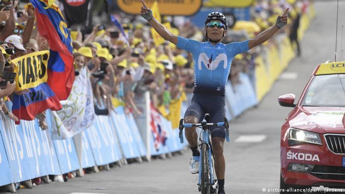 Frankreich, Gap: Tour de France Nairo Quintana (picture-alliance/dpa/Y. Jansens)