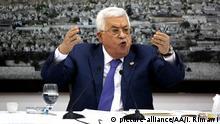 Palästina Treffen mit Präsident Mahmoud Abbas in Ramallah