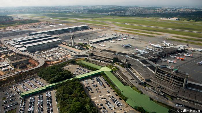 Vista aérea do aeroporto de Guarulhos