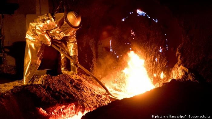 Steel production at a Salzgitter plant