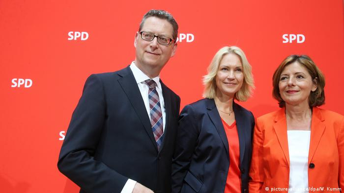Malu Dreyer, Manuela Schwesig and Thorsten Schäfer-Gümbel
