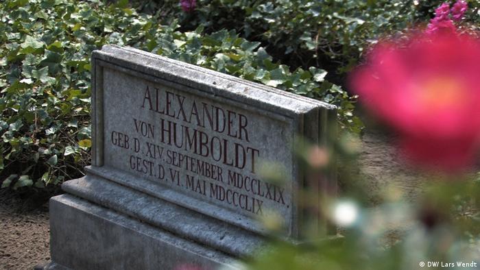 Gravestone of Alexander von Humboldt in Tegel (DW/ Lars Wendt)