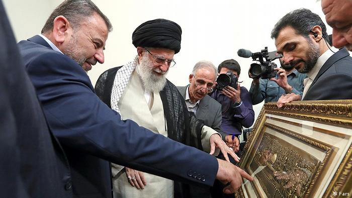 صالح عاروری، نایب رئیس دفتر سیاسی حماس در دیدار با رهبر ایران