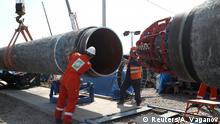 FILE PHOTO: Workers are seen at theconstruction siteof the NordStream2 gas pipeline, near the town of Kingisepp, Leningrad region, Russia, June 5, 2019. REUTERS/AntonVaganov/File Photo