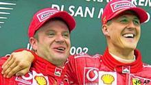 Michael Schumacher gewinnt vor Barrichello