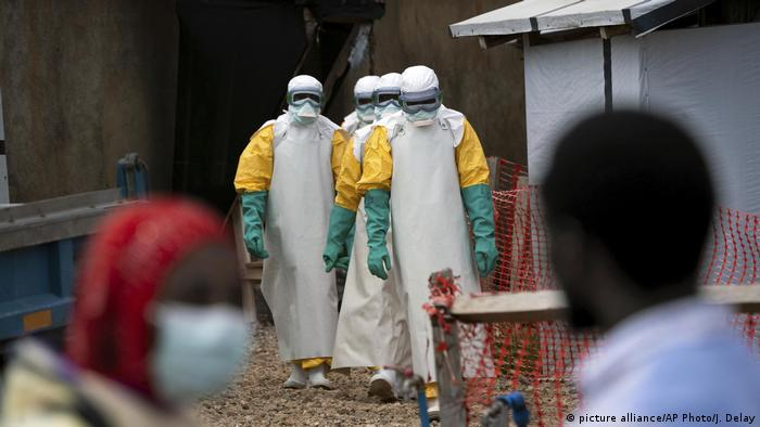 Demokratische Republik Kongo l anhaltende Ebola-Epidemie (picture alliance/AP Photo/J. Delay)