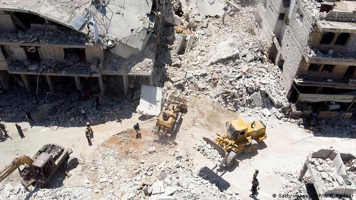 Syrien Mehr als 400.000 Vertriebene in Nordwestsyrien in drei Monaten (Getty images/AFP/O. H. Kadour)