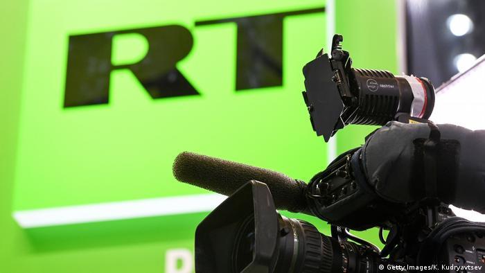 Russia Today RT TV Sender Moskau Russland