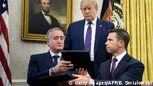 USA Washington Donald Trump verkündet neue Asyl Regeln mit Guatemala