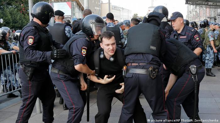 Задержания не протесте в Москве 27 июля 2019 года