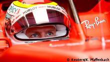 Sebastian Vettel pada Grand Prix Jerman tahun 2019 lalu (Reuters/K. Pfaffenbach)