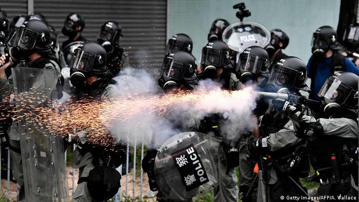 Hongkong Ausschreitungen Polizei Protest gegen Auslieferungsgesetz