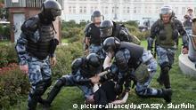 Moskau Demonstration für unabhängige Kandidaten