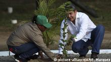 Mexiko Honduras Migration - Präsident López Obrador und Präsident Hernández unterschreiben Absichtserklärung