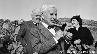 Charlie Chaplin in den Weinbergen, 6. Oktober 1953