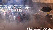 Hongkong Proteste Tränengaseinsatz