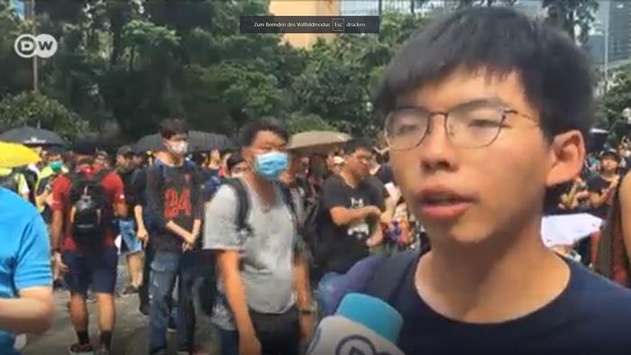 Still DW Interview Hongkong Joshua Wong