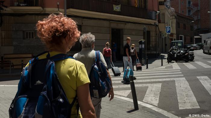 Tourists in Barcelona