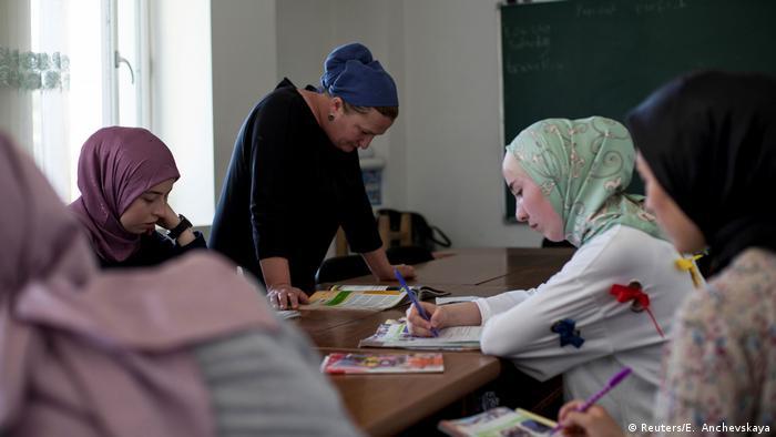 Женщины Панкисского ущелья на занятиях английского