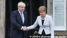 England Boris Johnson besucht Schottland