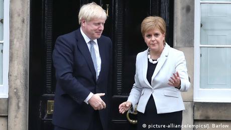 Nicola Sturgeon şi Boris Johnson (29.07.2019)