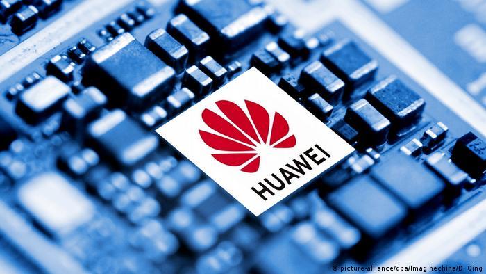 A chip of Huawei is seen in Ji'nan city, east China's Shandong province