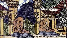 Berliner Zoo - Postkarte von Franz Kuhn