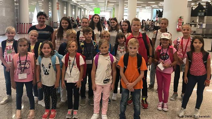 Дети из Беларуси, России и Украины, прибывшие на отдых в Испанию