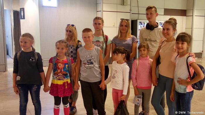 Дети, прибывшие на отдых в Испанию