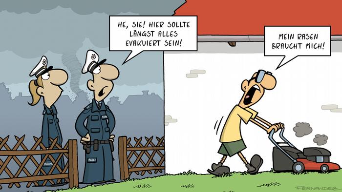 DW Euromaxx Comics von Fernandez Verstehen Sie Deutsch? Evakuierung DEUTSCH