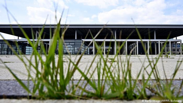 Grass growing in front of Berlin's BER airport