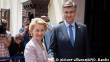 Kroatien Ursula von der Leyen und Andrej Plenkovic