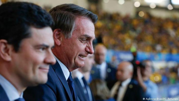 Sergio Moro e Jair Bolsonaro