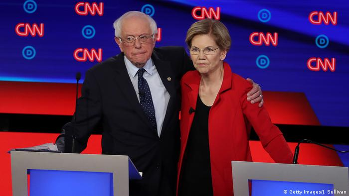 BdT Demokratische Präsidentschaftskandidaten debattieren in Detroit zwei Nächte lang (Getty Images/J. Sullivan)